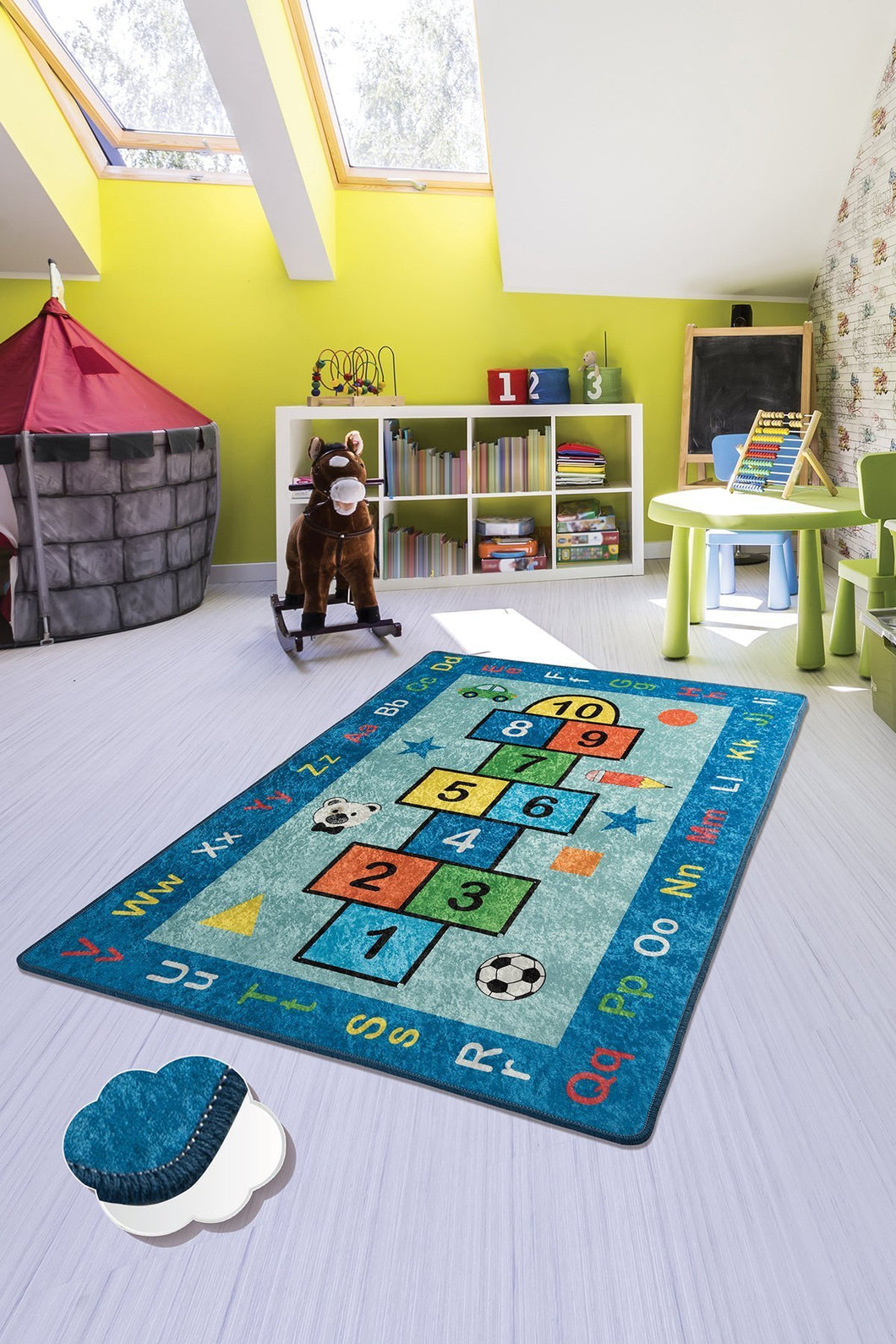 RugstoreX Blue Seksek Rugs for kids Highway  3'x 5' 39