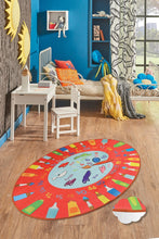 "Load image into Gallery viewer, RugstoreX Palette Red Rugs for kids Highway  3'x 5' 39""x 62"" 100x160 cm - Cross Border Exporter"