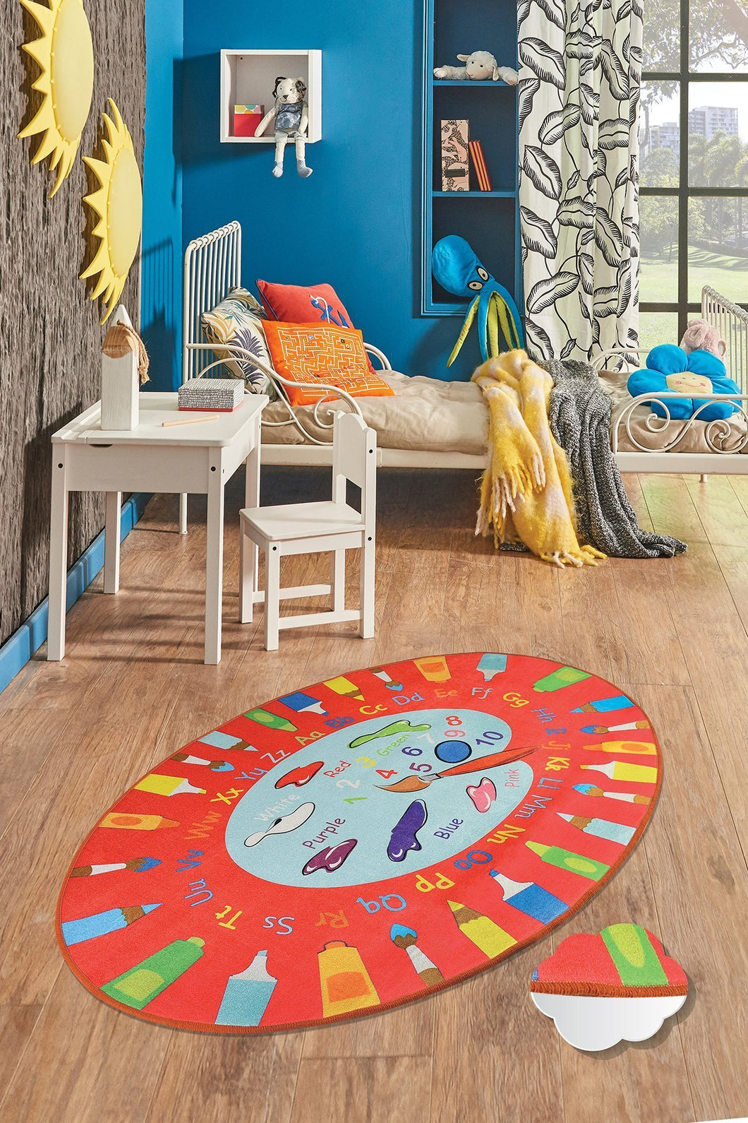 RugstoreX Palette Red Rugs for kids Highway  3'x 5' 39