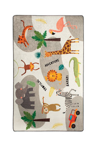 "RugstoreX Safari  Rugs for kids Highway  3'x 5' 39""x 62"" 100x160 cm - Cross Border Exporter"