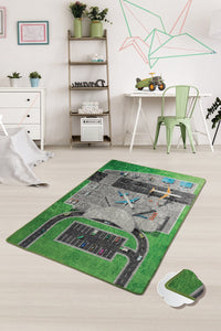 "RugstoreX Airport Rugs for kids Highway  3'x 5' 39""x 62"" 100x160 cm - Cross Border Exporter"