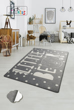 "Load image into Gallery viewer, Antdecor Litte Bear Gri Rugs for kids Highway  3'x 5' 39""x 62"" 100x160 cm - Cross Border Exporter"