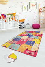 "Load image into Gallery viewer, RugstoreX Colour Rugs for kids Highway  3'x 5' 39""x 62"" 100x160 cm - Cross Border Exporter"
