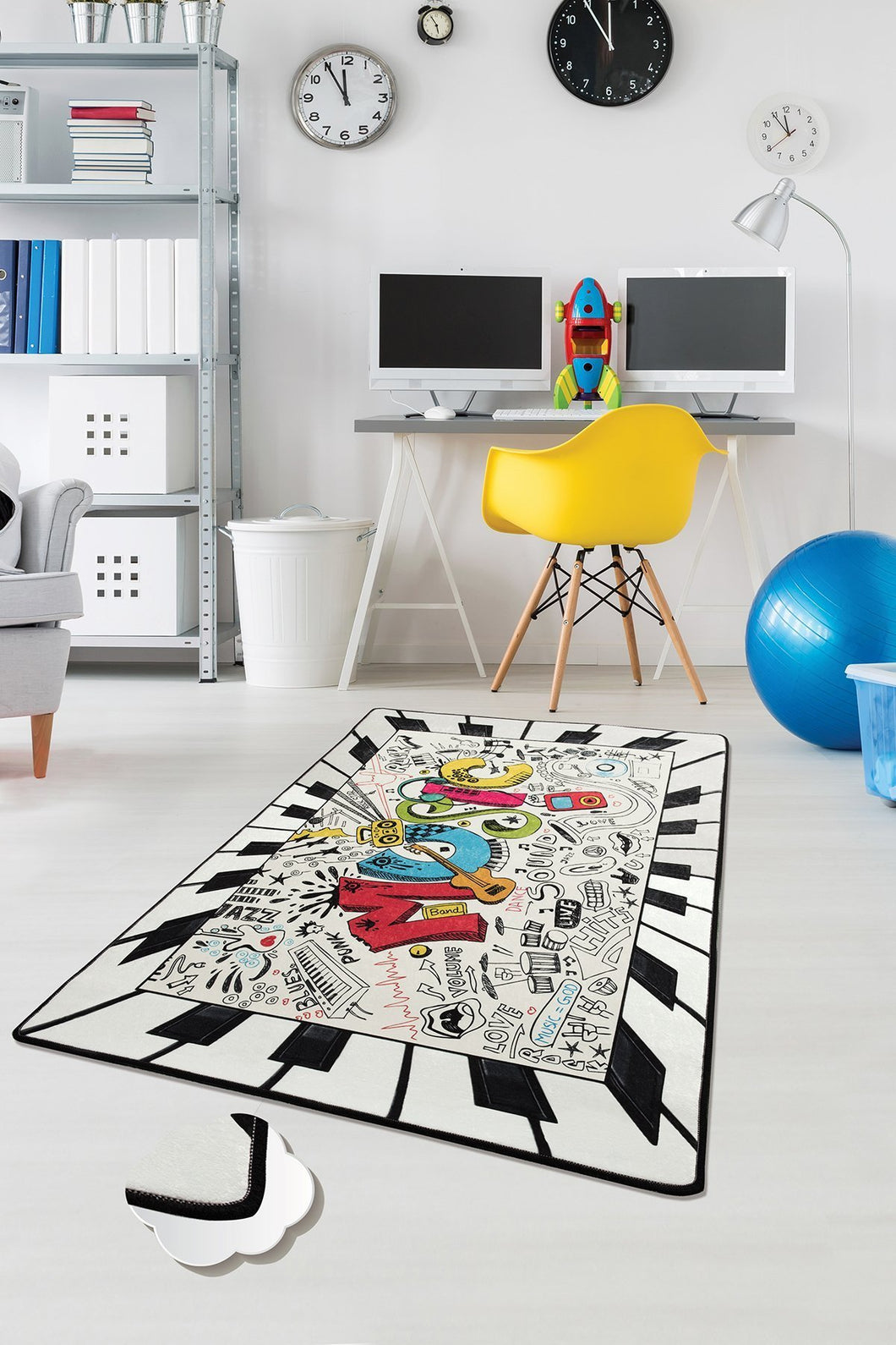 Antdecor Music Rugs for kids Highway  3'x 5' 39