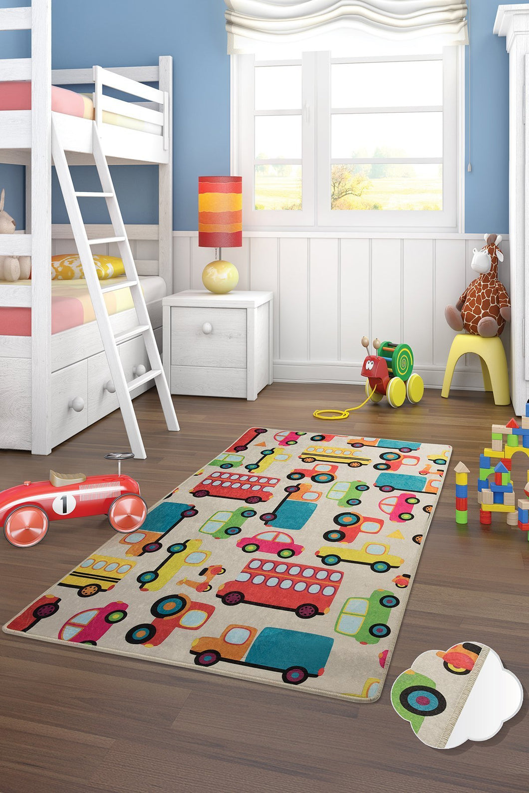 RugstoreX Cars Rugs for kids Highway  3'x 5' 39