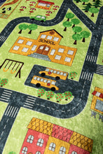 "Load image into Gallery viewer, RugstoreX Small Town Green Rugs for kids Highway  3'x 5' 39""x 62"" 100x160 cm - Cross Border Exporter"