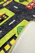 "Load image into Gallery viewer, Antdecor Green City Rugs for kids Highway  3'x 5' 39""x 62"" 100x160 cm - Cross Border Exporter"