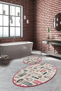 Antdecor Djt 2'li Makeup Premier Carpet poster, Bathroom Carpet Set Anthracite - Cross Border Exporter