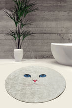Load image into Gallery viewer, Pelin Collection Rugs 40x60 Round Rug White Cat