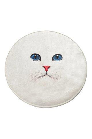 Antdecor Blue Eyes Round Bath Rug 40