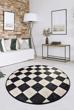 "Load image into Gallery viewer, Antdecor Dama Round Bath Rug Area Rug Round Rug 40"" 100 cm - 55"" 140 cm - Cross Border Exporter"