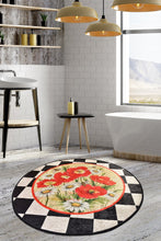 "Load image into Gallery viewer, RugstoreX Rox Round Bath Rug Area Rug Round Rug 40"" 100 cm - 55"" 140 cm - Cross Border Exporter"