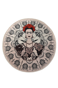 "Antdecor Frida Round Djt Bath Rug Area Rug Round Rug 40"" 100 cm - 55"" 140 cm - Cross Border Exporter"