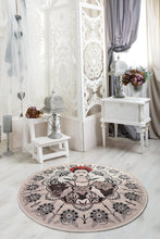 "Load image into Gallery viewer, Antdecor Frida Round Djt Bath Rug Area Rug Round Rug 40"" 100 cm - 55"" 140 cm - Cross Border Exporter"