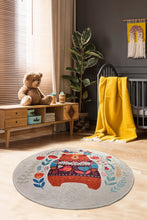 "Load image into Gallery viewer, RugstoreX Sweet Bear  Round Bath Rug Area Rug Round Rug - 40"" 100 cm - 55"" 140 cm - Cross Border Exporter"