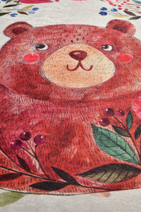 Antdecor Happy Bear Design Decorative Round Area Rug 78'' 200cm