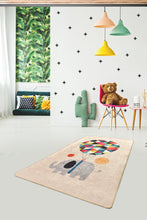 Load image into Gallery viewer, Antdecor Sweet Elephant with Balloon Decorative Modern Area Rug 100x160cm