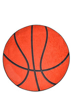Load image into Gallery viewer, Antdecor Basketball Ball Pattern Modern Decorative Round Area Rug