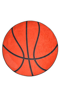 Antdecor Basketball Ball Pattern Modern Decorative Round Area Rug