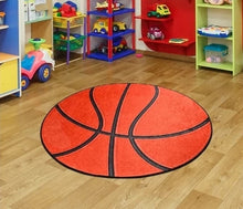 "Load image into Gallery viewer, Basketball Round Bath Rug Area Rug Round Rug 40"" 100 Cm - 140 cm"