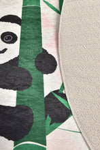 Load image into Gallery viewer, Antdecor Forest and Sweet Pandas Modern Decorative Round Area Rug