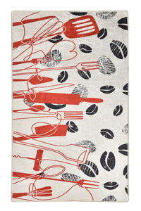 Antdecor Kitchen Utensils Pattern Modern Decorative Area Rug