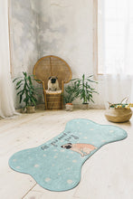 Load image into Gallery viewer, Antdecor All You Need is Pug Design Bone Pattern Modern Decorative Area Rug