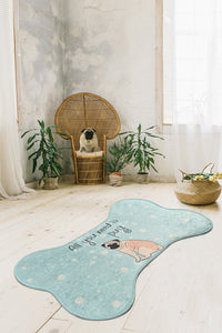 Antdecor All You Need is Pug Design Bone Pattern Modern Decorative Area Rug