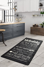 Load image into Gallery viewer, Antdecor Black&Gray Kitchen Rules List on Decorative Modern Area Rug
