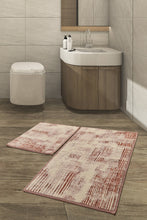 Load image into Gallery viewer, Antdecor Cinnamon Color Modern and Decorative Bathroom Rug