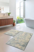 Load image into Gallery viewer, Antdecor Blue&White Contemporary Pattern Modern and Decorative Bathroom Rug