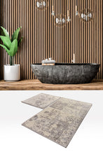 Load image into Gallery viewer, Antdecor Smoky Color Abstract Pattern Modern and Decorative Bathroom Rug