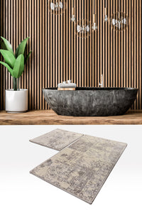 Antdecor Smoky Color Abstract Pattern Modern and Decorative Bathroom Rug