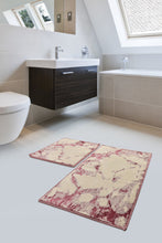 Load image into Gallery viewer, Antdecor Bordeaux  Geometric Design Modern and Decorative Bathroom Rug