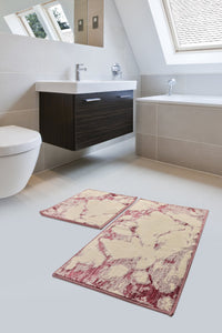 Antdecor Bordeaux  Geometric Design Modern and Decorative Bathroom Rug