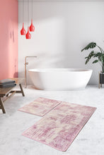 Load image into Gallery viewer, Antdecor Pink&Purple Color  Pattern Modern and Decorative Bathroom Rug