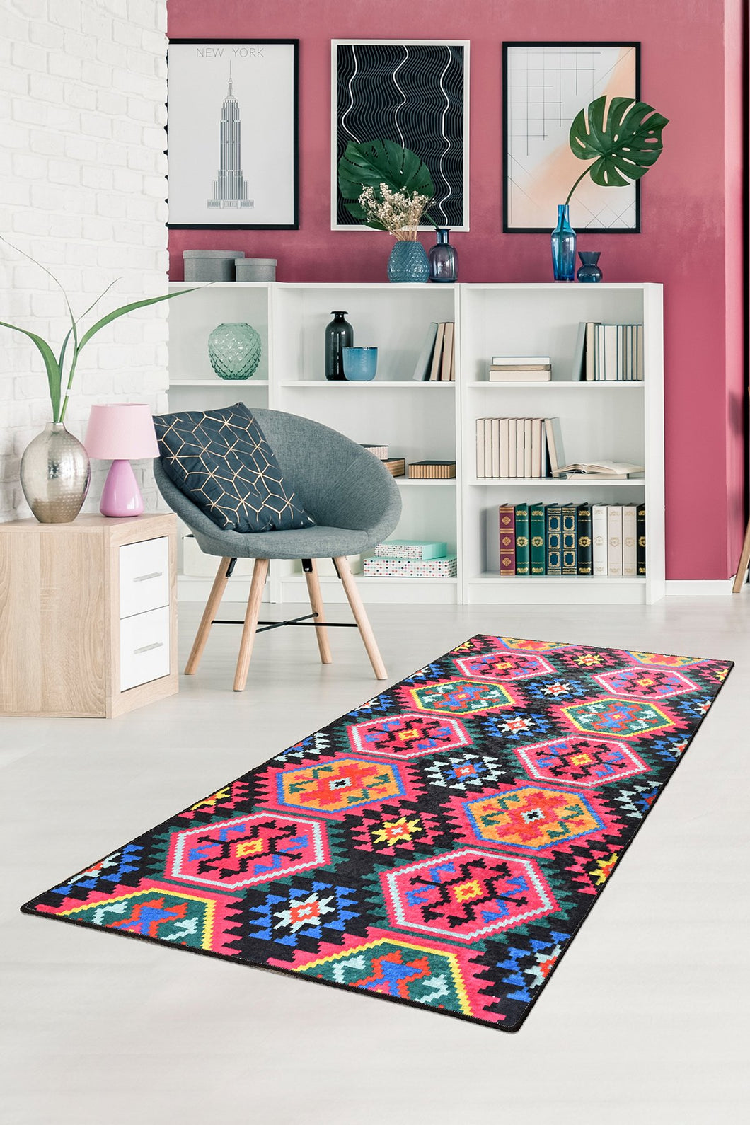 Antdecor Ethnic Design Multicolor Zig Zag Decorative Area Rug 31'' 59'' 80x150cm