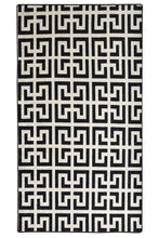 Load image into Gallery viewer, Antdecor Black&White Zig Zag Pattern Decorative Area Rug 31'' 59'' 80x150cm