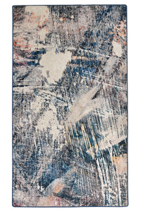Antdecor Blue&White Abstract Decorative Area Rug 31'' 59'' 80x150cm area rug