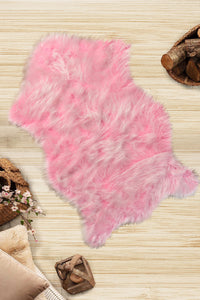 Andecor Sweet Pink Plush Modern Decorative Area Rug 31'' 59'' 80x150 cm