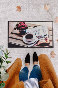 Antdecor Coffeee and Book  Design Modern Decorative Door Mat 17'' 27'' 45x70 cm
