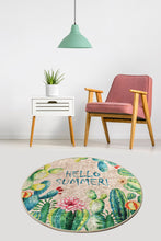 Load image into Gallery viewer, Antdecor Hello Summer Modern Decorative Round Area Rug 55'' 140cm