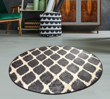 "Load image into Gallery viewer, Shadow Round Bath Rug Area Rug Round Rug 40"" 100 Cm - 140 cm"