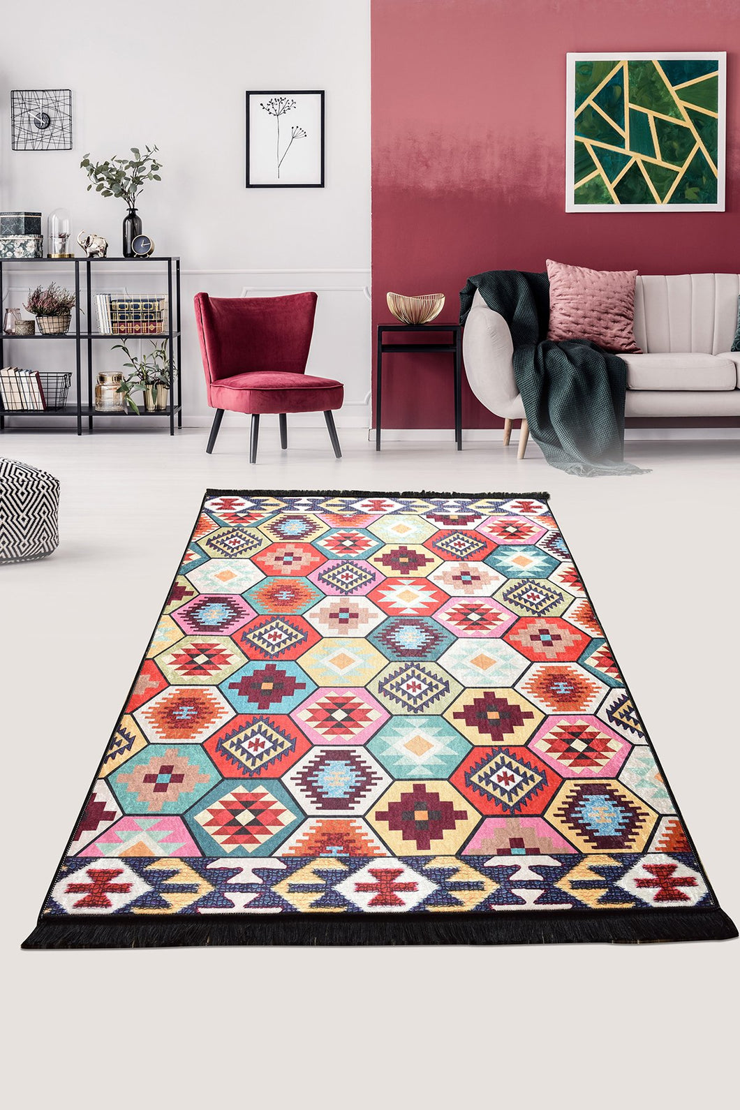 Comb Decorative Carpet 140X190 Cm