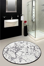 Load image into Gallery viewer, Antdecor Marble White Round Bath Rug 140 Cm