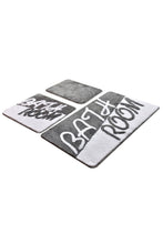 Load image into Gallery viewer, Antdecor Bathroom Grey Set Of 3 Bath Rug