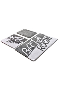 Antdecor Bathroom Grey Set Of 3 Bath Rug