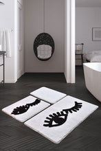 Load image into Gallery viewer, Antdecor Big Eyes White Set Of 3 Bath Rug