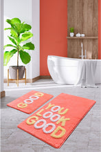 Load image into Gallery viewer, Antdecor Good Fuchsia Set Of 2 Bath Rug 60X100 Cm - 50X60 Cm