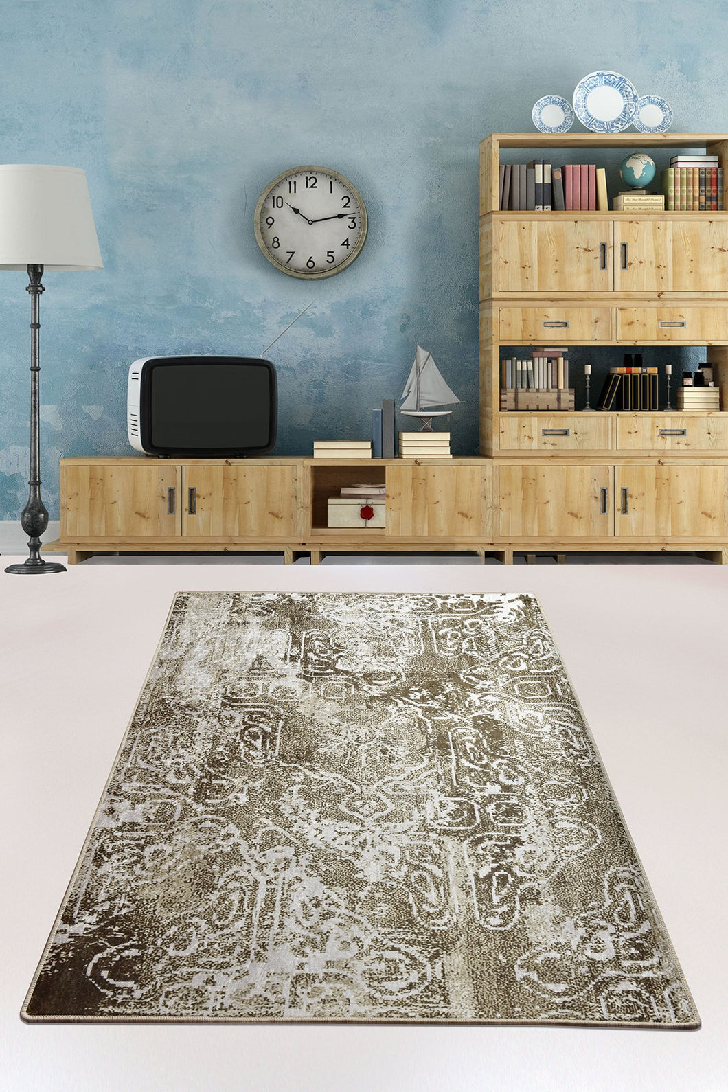 Antdecor Harmony Khaki Decorative Carpet 120X180 Cm